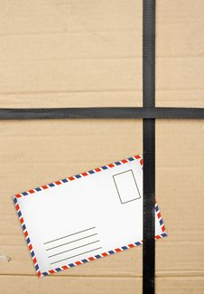 Paper Box Package With Old Envelopes Royalty Free Stock Photos