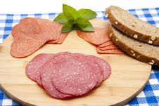 Free Salami With Bread Stock Photography - 20485872