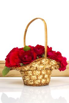 Free Basket Of Roses Stock Images - 20486414