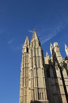 Cathedral Towers Of Palma Di Mallorca Stock Photo