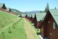 Free Wooden Houses In The Mountains Royalty Free Stock Image - 20486696