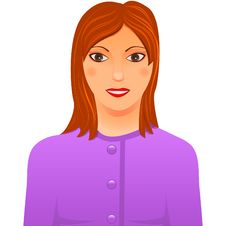 Free Lady In Lilac Suit Royalty Free Stock Photography - 20487157
