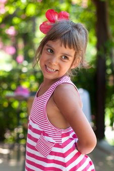 Free Portrait Of A Girl Wearing Flower In Her Hair Royalty Free Stock Photos - 20487308