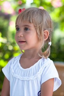 Free Portrait Of Little Girl Stock Images - 20487374
