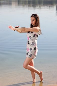 Free Attractive Woman In The Sundress Stock Photography - 20487662