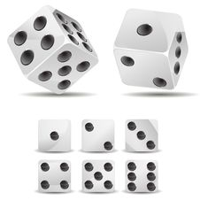 White Dices Royalty Free Stock Photo