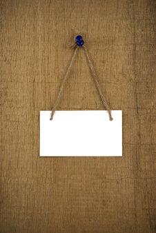 Free Signboard On Wood Background Stock Image - 20488961