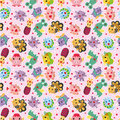 Free Seamless Monster Pattern Royalty Free Stock Photography - 20497737
