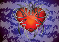 Free Gothic Heart Against The Grungy Background Royalty Free Stock Photos - 20497768