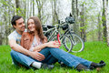 Free Young Couple Resting In A Park Royalty Free Stock Photos - 20497968