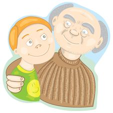 Free Grandfather Proud Of His Grandson Stock Images - 20492454