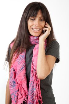 Free Woman On The Phone Stock Photos - 20493133