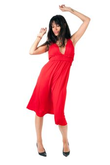 Free Dancer In Red Royalty Free Stock Photography - 20493187