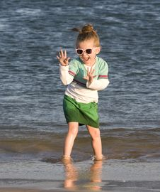 Free Pretty Child On The Beach Stock Photos - 20493383