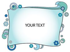 Free Decorated Blue Frame Stock Photo - 20493430