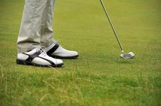 Free Golf Putting From The Fringe Royalty Free Stock Photography - 20493577