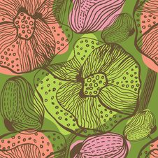 Free Floral Seamless Pattern Royalty Free Stock Photo - 20493775