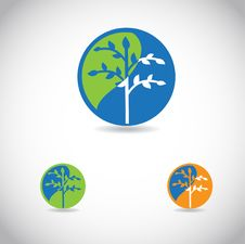 Free Tree Icon, Good For  Logotype Royalty Free Stock Photography - 20493807