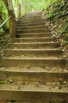 Stone Stair On Nature Park Royalty Free Stock Photography