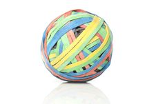 Free A Colorful Rubber Band Ball Stock Image - 20496231