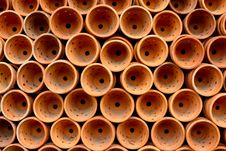 Flowerpot Pattern In Market Stock Images