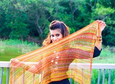 Free Young Pakistani Model Holding A Scarf Royalty Free Stock Images - 20497369