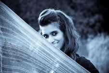 Free Model Holding A Scarf Stock Photography - 20497432