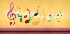 Free Music Notes On Concrete Wall Royalty Free Stock Photography - 20497727
