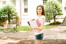 Attractive Young Student Stock Images
