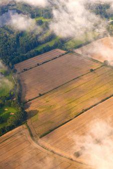 Free Aerial Of Fields Near Hamburg Royalty Free Stock Photography - 20497977