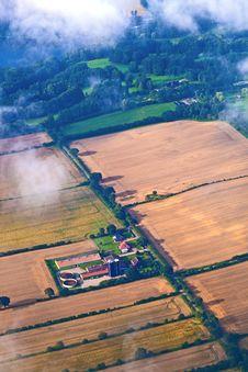 Free Aerial Of Fields Near Hamburg Stock Image - 20498011