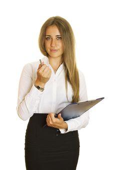 Free Businesswoman Holding Folder Stock Photography - 20498082
