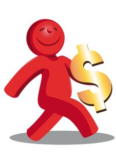 Free Happy Red Man Royalty Free Stock Photography - 20498147
