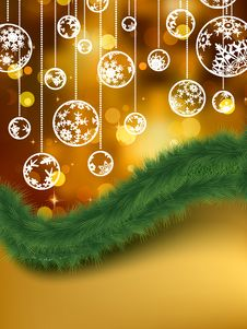 Elegant Golden Christmas Background. EPS 8