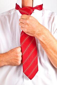 Free Man Binding His Tie Stock Photos - 20498273
