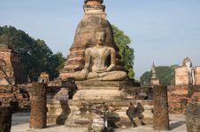 Free Ancient Image Buddha Statue At Sukhothai Royalty Free Stock Photo - 20498285