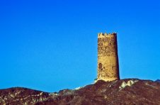 Free Old Fortress Tower In Al Mudayrib Stock Photography - 20498632