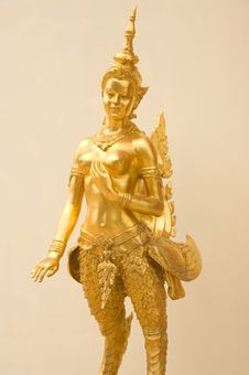 Golden Angle Statue Royalty Free Stock Image