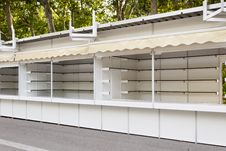 Free Stands Set Up At Madrid Book Fair, Spain Stock Image - 20498841