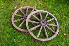 Free Two Old Wheel Royalty Free Stock Image - 20499156