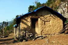 Free Native Soil Home In Nepal Royalty Free Stock Image - 20499776