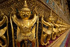 Free Ancient Decoration At Wat Prakaew Royalty Free Stock Image - 20499906