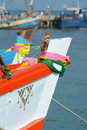 Free Bow Of Wooden Fishing Boat Royalty Free Stock Photo - 2059405