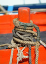 Free Ropes On An Orange Cleat Stock Images - 2059524