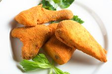 Free Chicken In The Breadcrumbs Royalty Free Stock Photo - 2050755