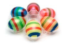 Free Six Colorful Easter Eggs Stock Image - 2050841