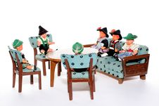 Free Doll Meeting Stock Photography - 2051102
