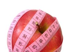 Free Apple With Pink Tape Measure Over White Background (concept Of H Stock Image - 2052271