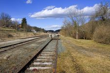 Free The End Of The Railway Line Stock Image - 2053621
