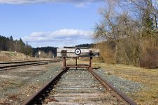 Free The End Of The Railway Line Stock Image - 2053671